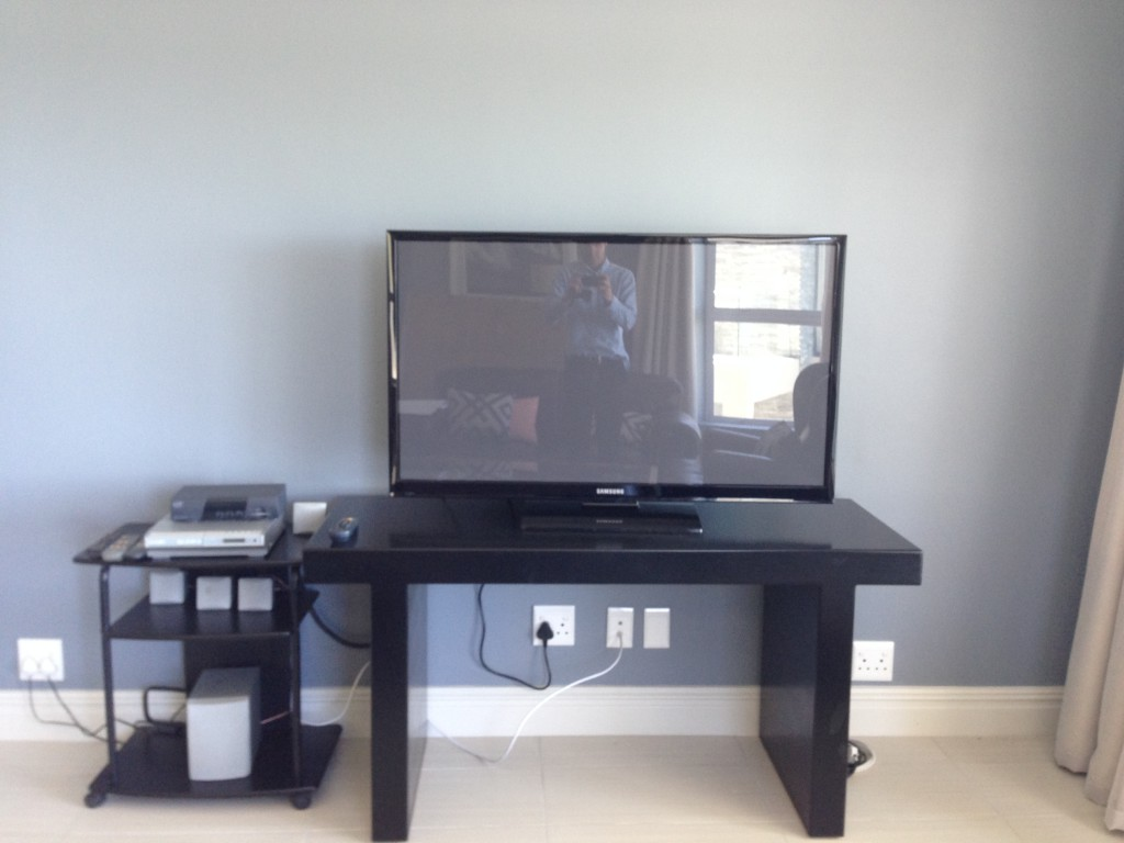 The existing television installation