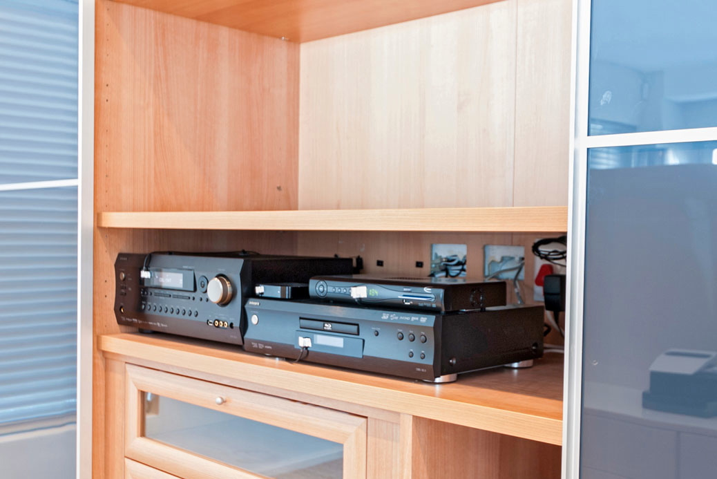 The Integra AVR and DVD player for the master bedroom