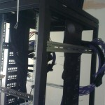 CAT6 Cable laid into rack