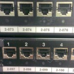 CAT6 patch panels labelled