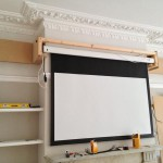 Projector screen installed and tested