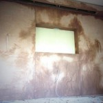 Front wall plastered