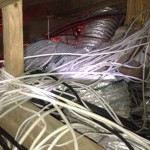 Cabling in the ceiling