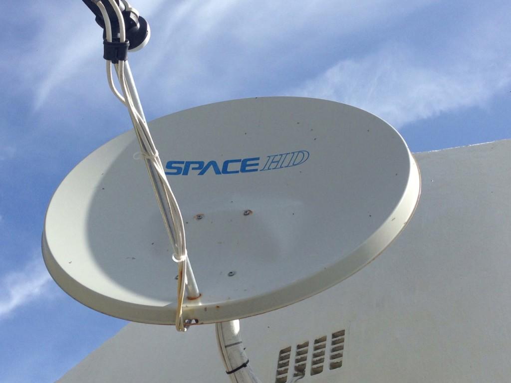 Damaged Satellite Dish