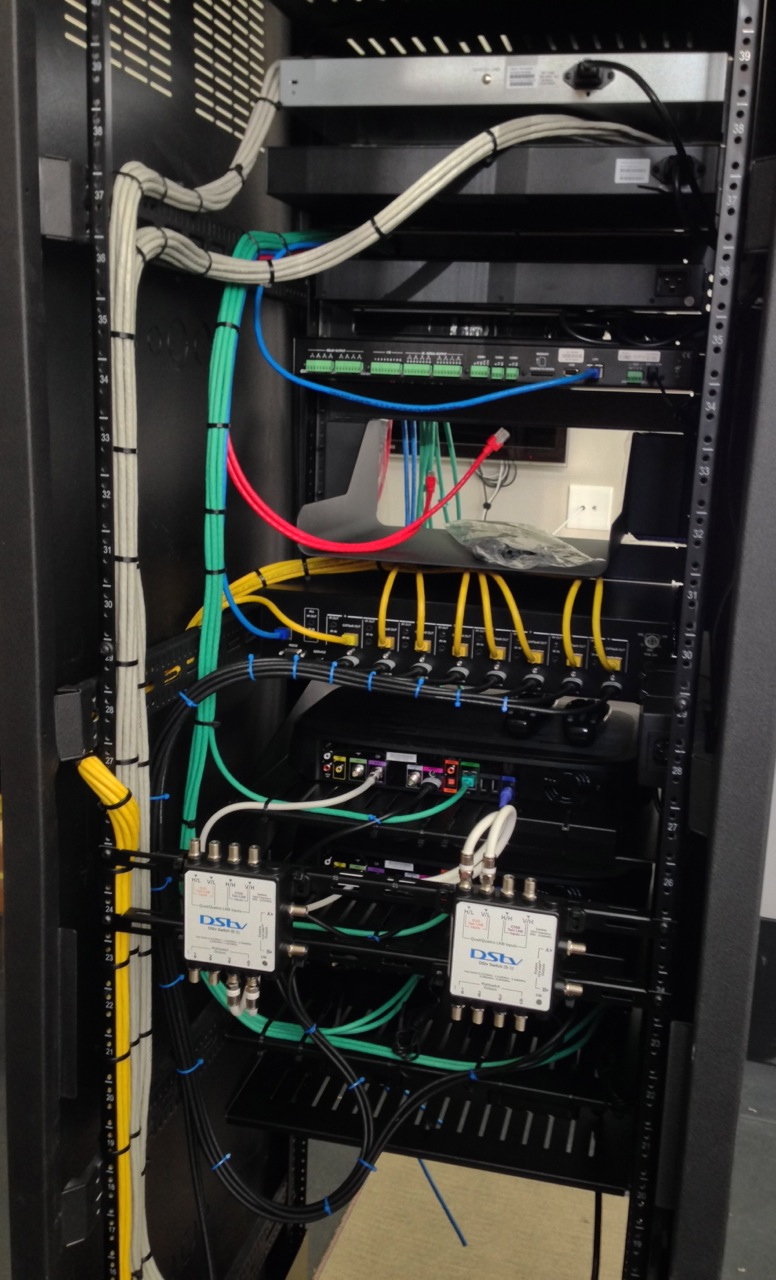 Laying in CAT6 Data cables to Source Device