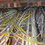 Pulling Yellow and Gray CAT6 cable out of conduits