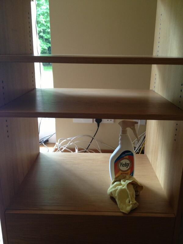 Typical cleaning products for equipment cabinets