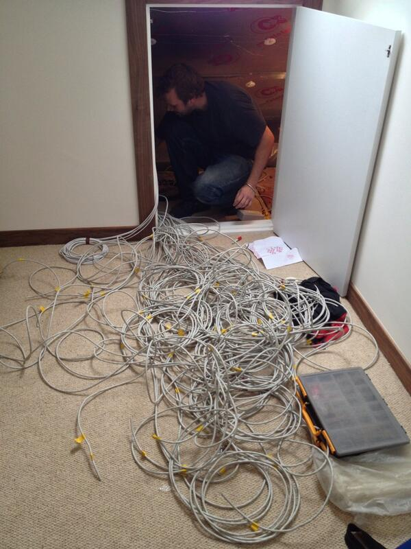 What it looks like to sort through first fix cabling