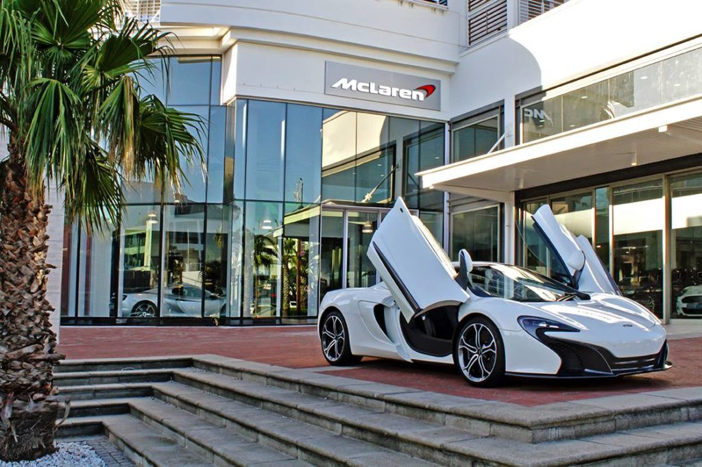 McLaren Cape Town showroom