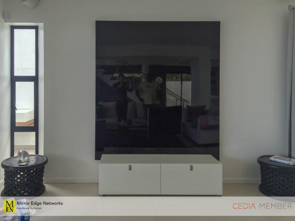 Gloss black television panel