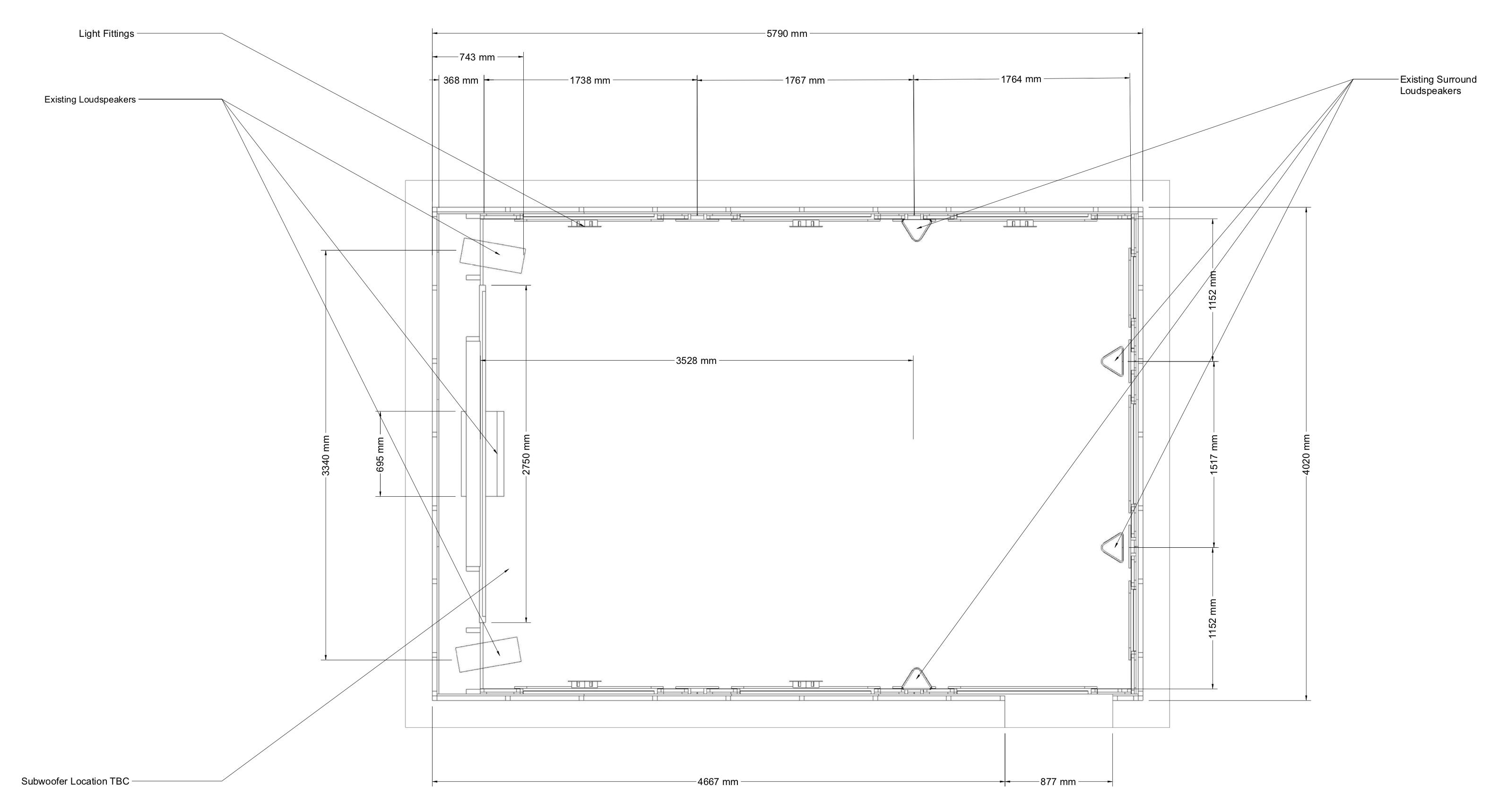 Stellenbosch Home Cinema upgrade overhead technical layout