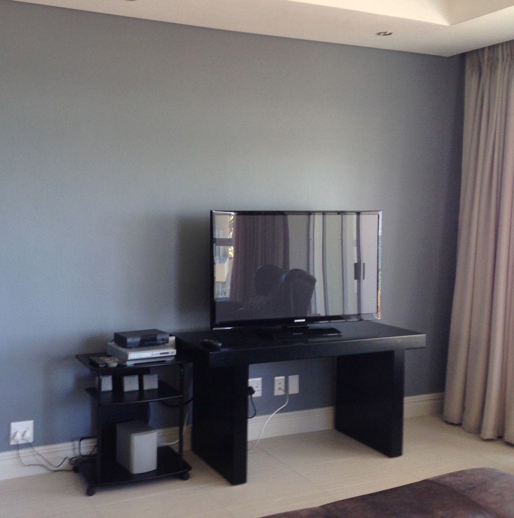 Television placed on Small Table
