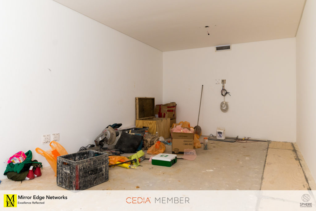 The clean slate which will become our Dolby Atmos home cinema