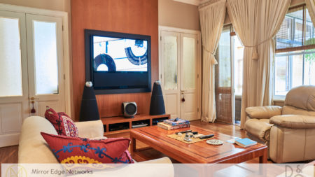 Bang & Olufsen BeoVision 11-55 and BeoLab 9 speakers